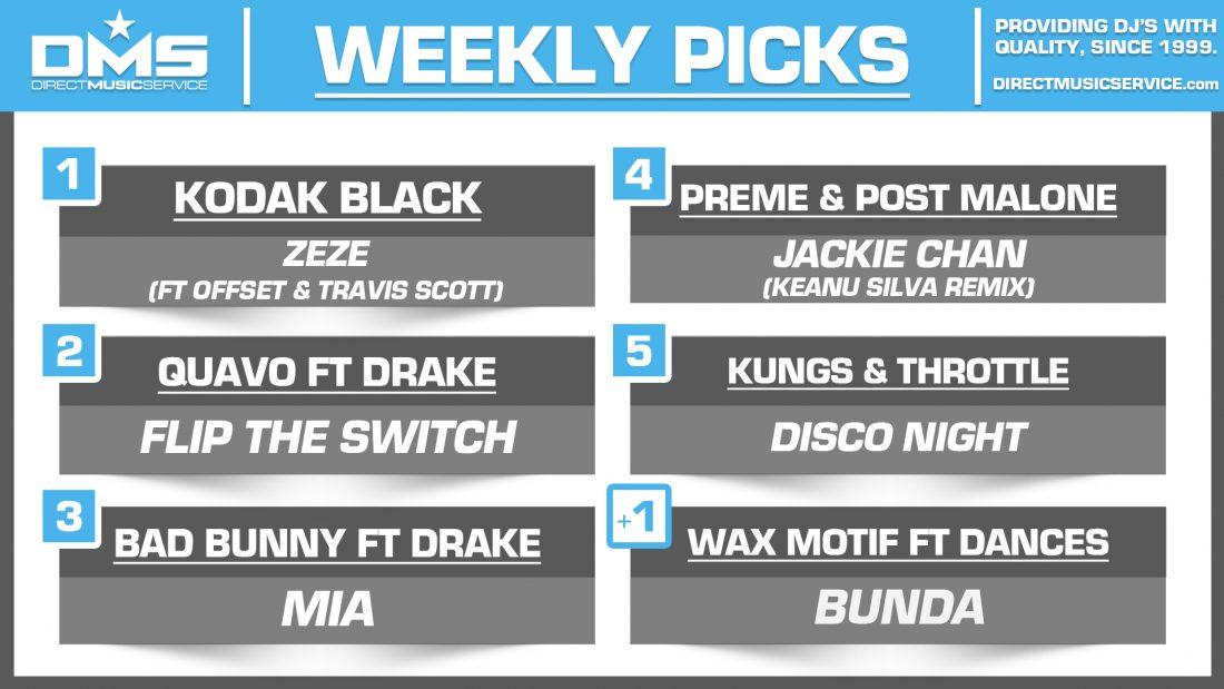 DMS Top 5 Picks Of The Week – 10/12/2018