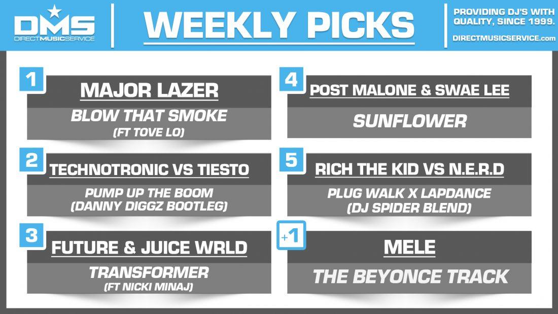 DMS Top 5 Picks Of The Week – 10/19/2018