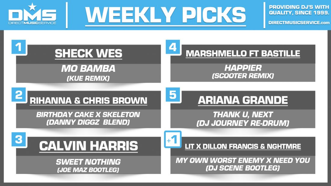 DMS Top 5 Picks Of The Week – 11/9/2018