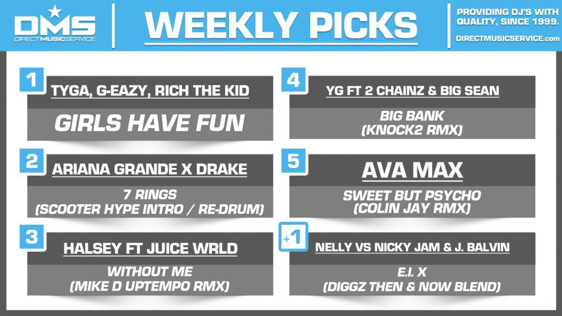 DMS Top 5 Picks Of The Week – 1/25/2019