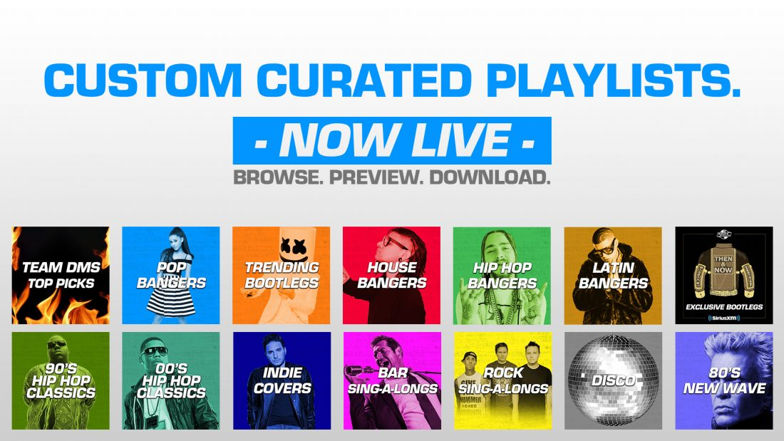 """Curated Playlists """"Now Live"""" Browse, Preview, Download"""