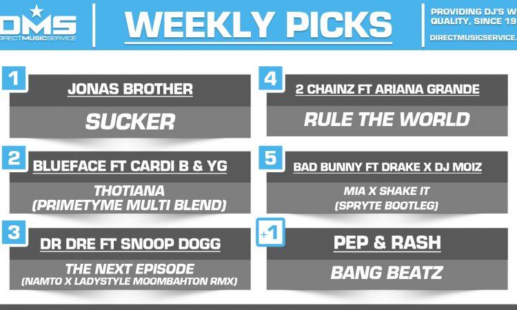 DMS TOP 5 PICKS OF THE WEEK – 3/4/19