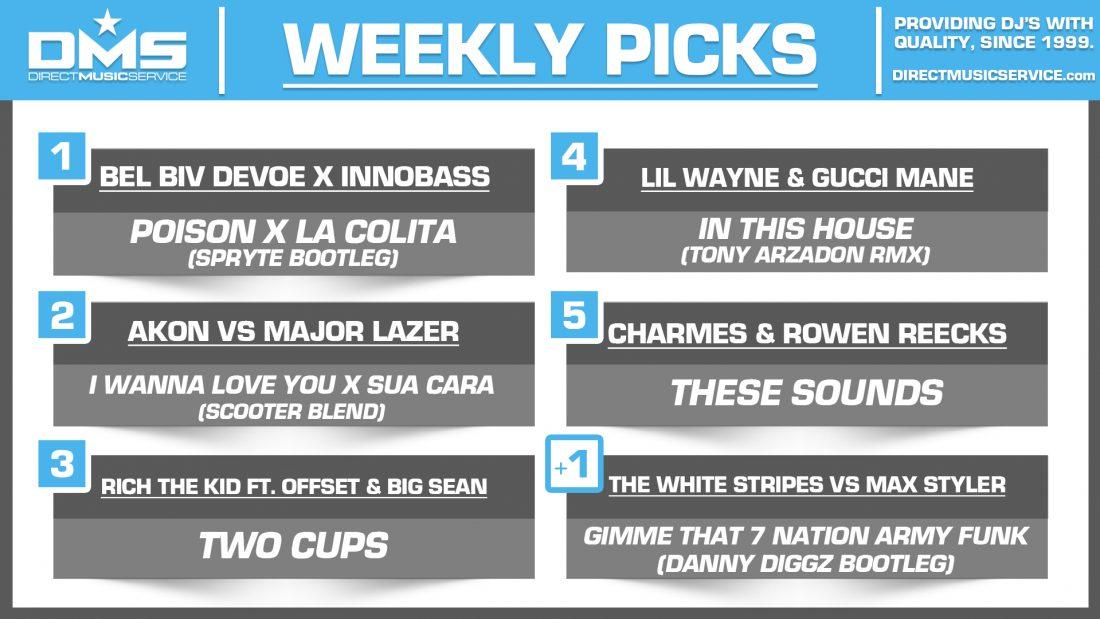 DMS TOP 5 PICKS OF THE WEEK – 4/2/19