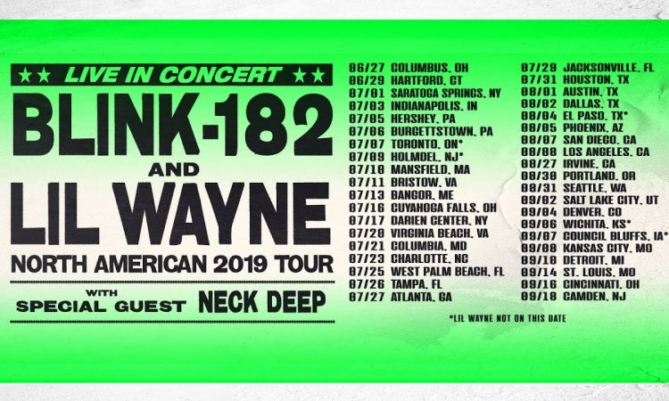 Blink-182 x Lil Wayne - What's My Age Again? / A Milli | TOUR ANNOUNCEMENT VIDEO