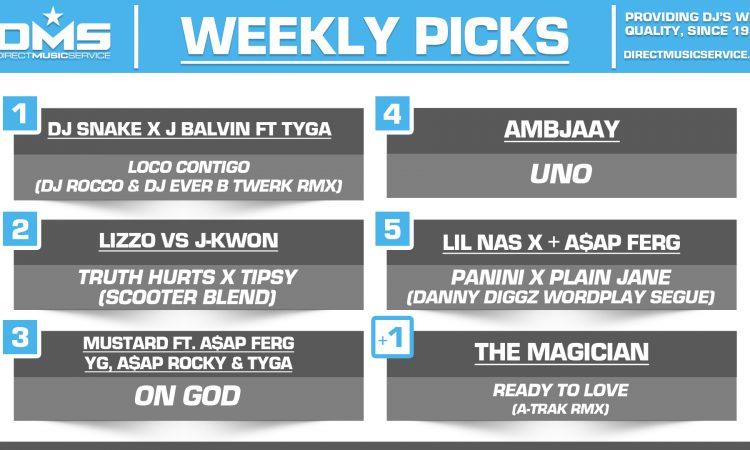 DMS TOP 5 PICKS OF THE WEEK – 7/1/19