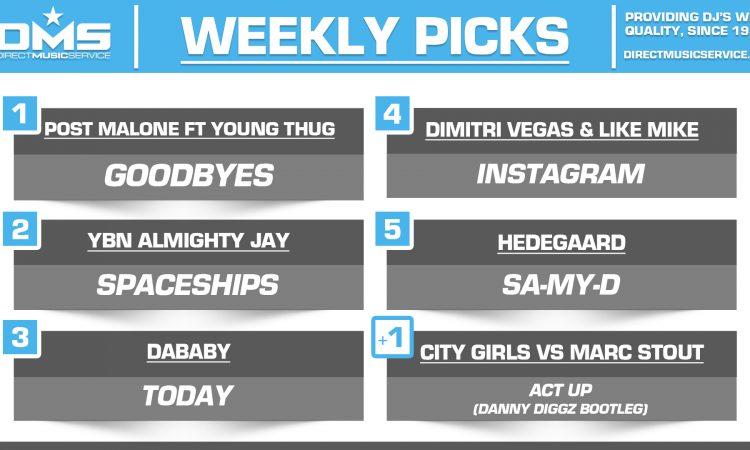 DMS TOP 5 PICKS OF THE WEEK – 7/8/19