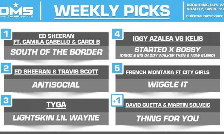 DMS TOP 5 PICKS OF THE WEEK – 7/15/19