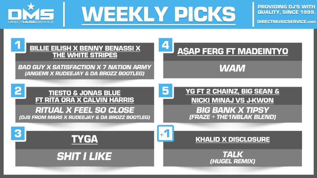 DMS TOP 5 PICKS OF THE WEEK – 7/22/19