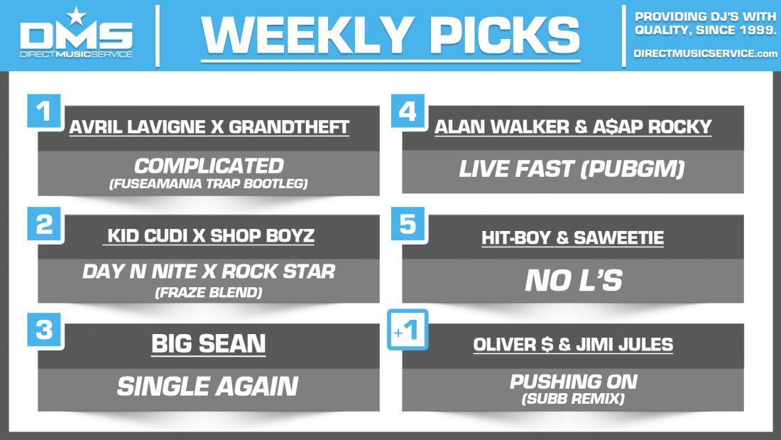 DMS TOP 5 PICKS OF THE WEEK – 7/29/19