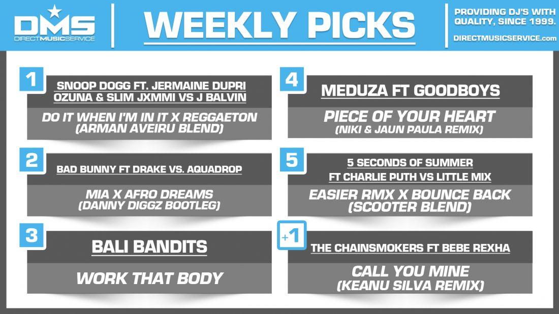DMS TOP 5 PICKS OF THE WEEK – 8/26/19