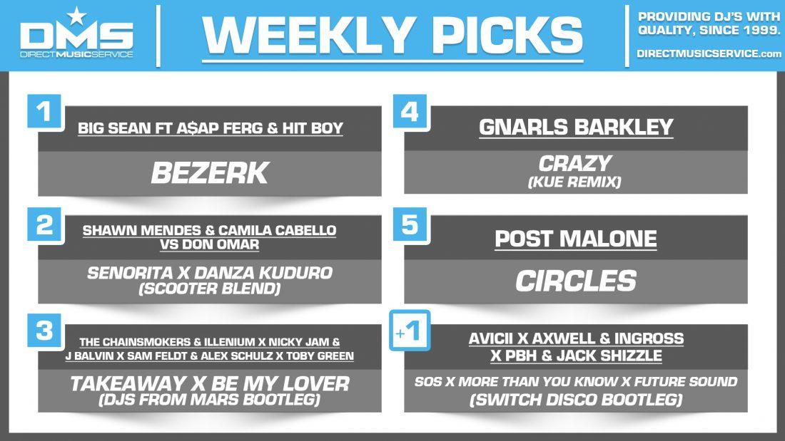 DMS TOP 5 PICKS OF THE WEEK – 9/2/19