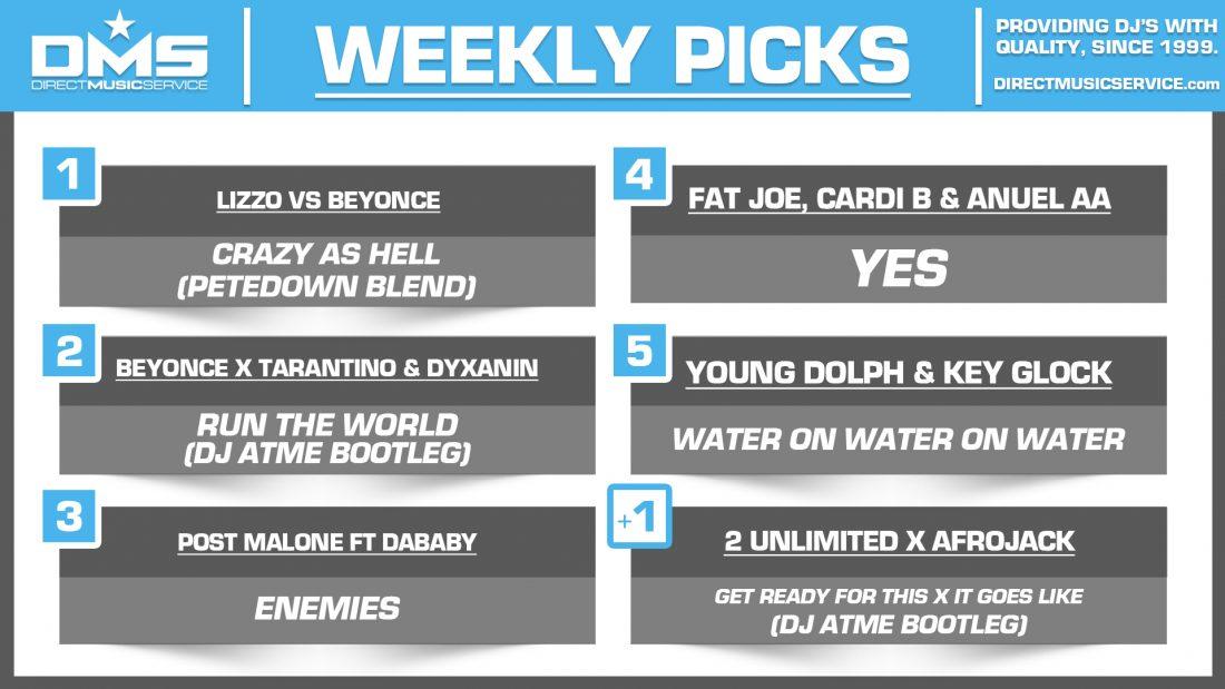 DMS TOP 5 PICKS OF THE WEEK – 9/9/19