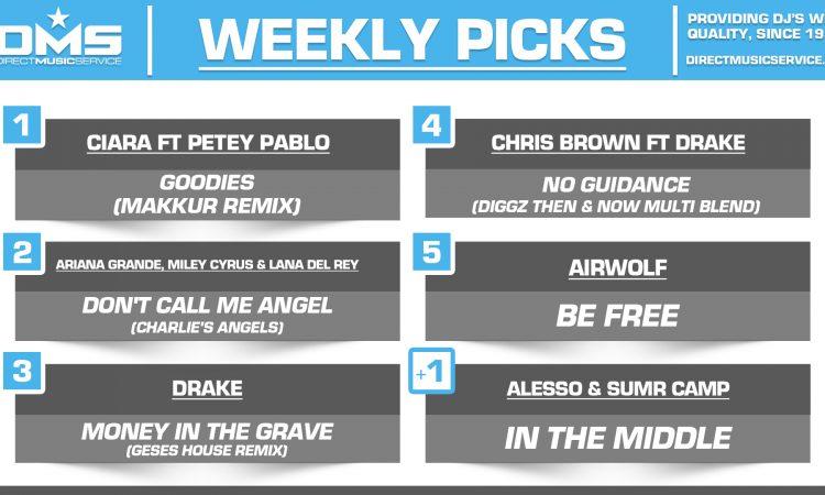 DMS TOP 5 PICKS OF THE WEEK – 9/16/19