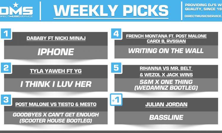 DMS TOP 5 PICKS OF THE WEEK – 9/30/19