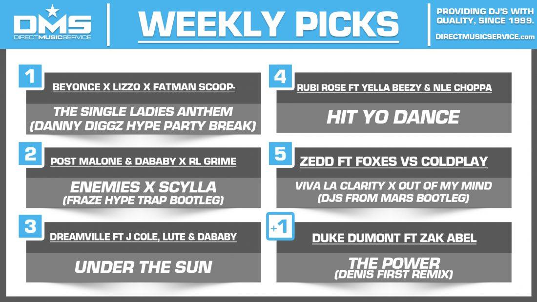 DMS TOP 5 PICKS OF THE WEEK – 10/22/19