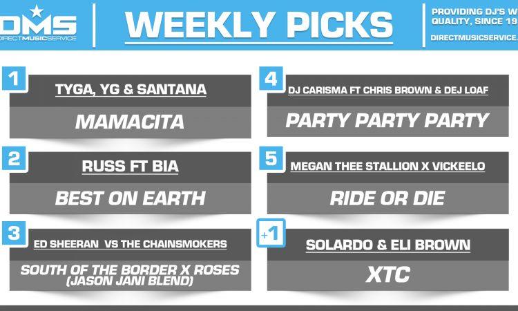 DMS TOP 5 PICKS OF THE WEEK – 10/28/19