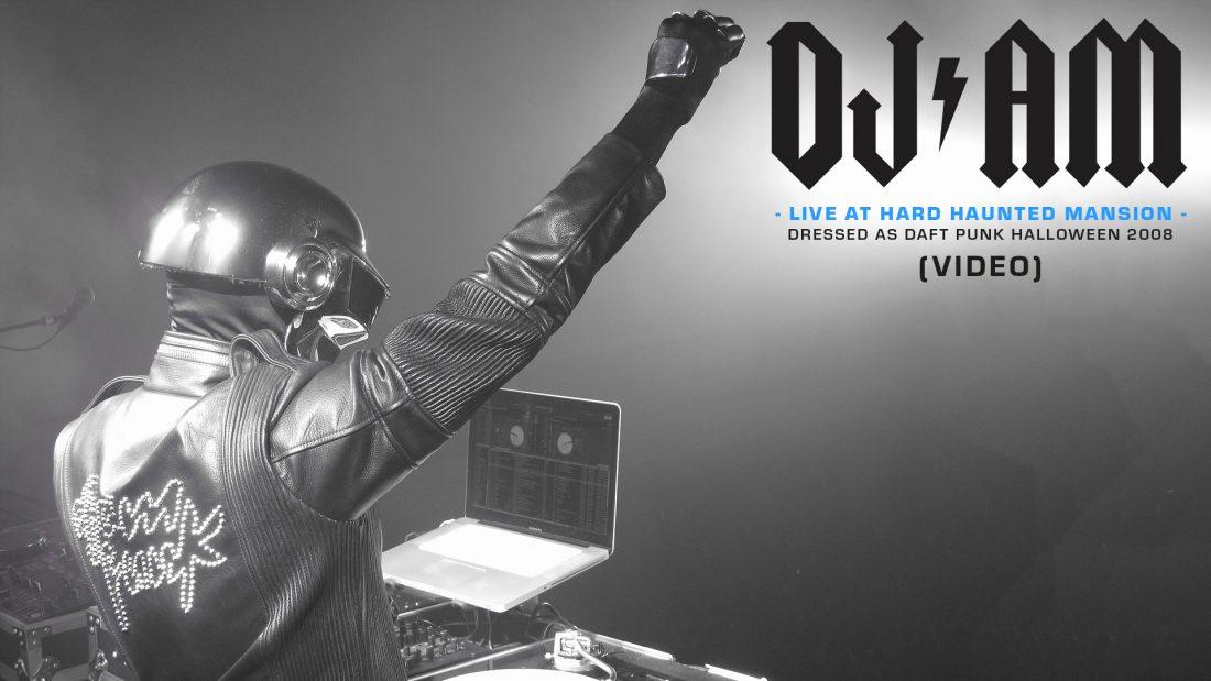 DJ AM at HARD Haunted Mansion as Daft Punk, Halloween 2008 (FULL VID)   DJAMLIVES.COM