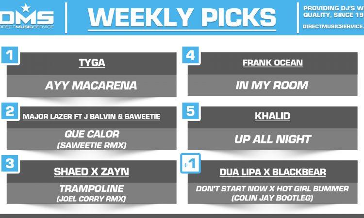 DMS TOP 5 PICKS OF THE WEEK – 11/18/19