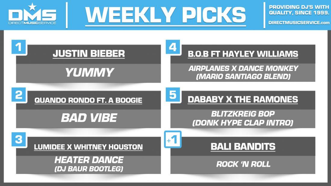 DMS TOP 5 PICKS OF THE WEEK – 1/6/2020