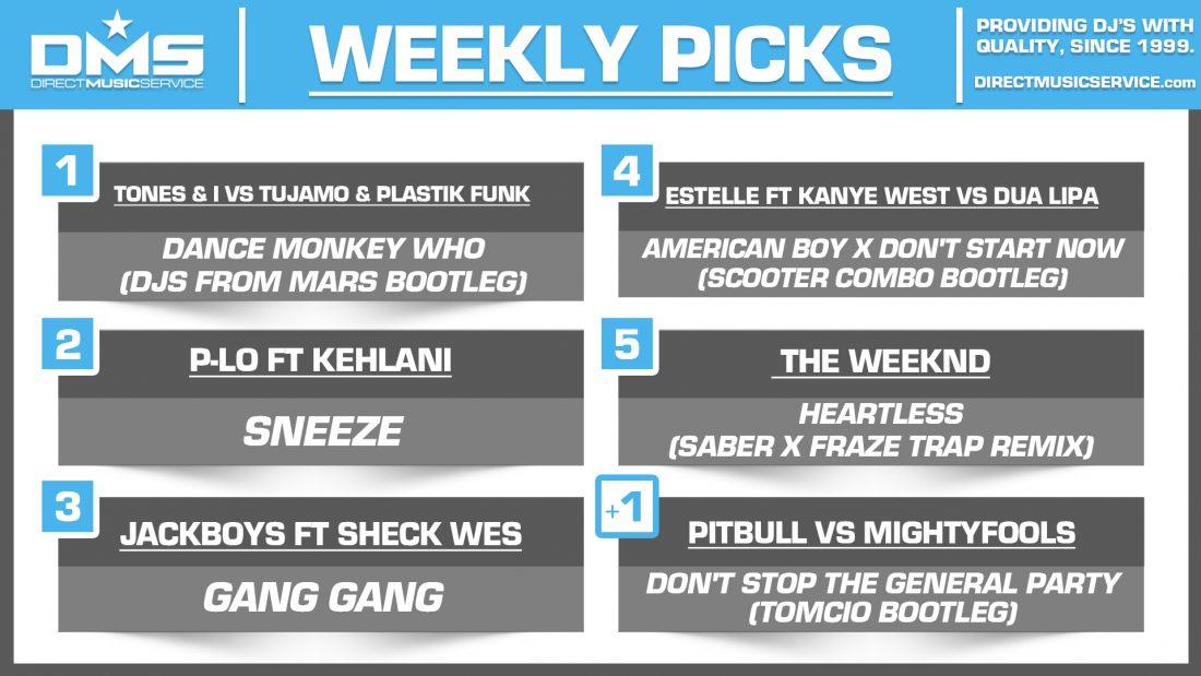 DMS TOP 5 PICKS OF THE WEEK – 12/30/19