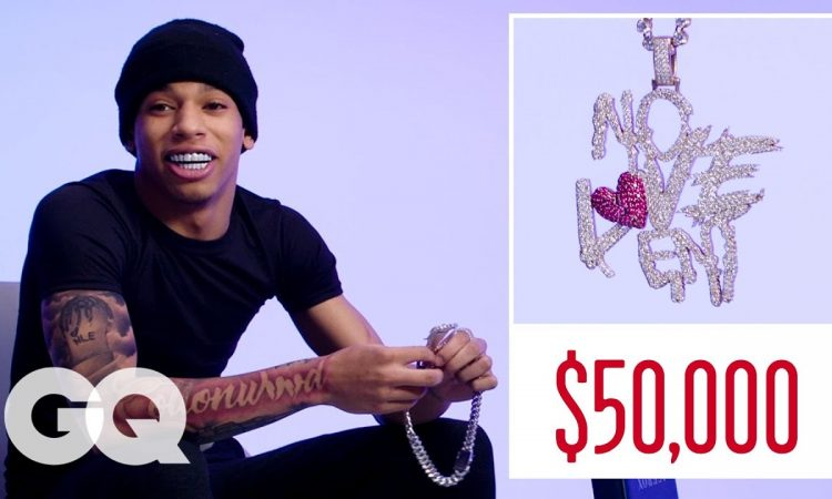 NLE Choppa Shows Off His Insane Jewelry Collection   GQ