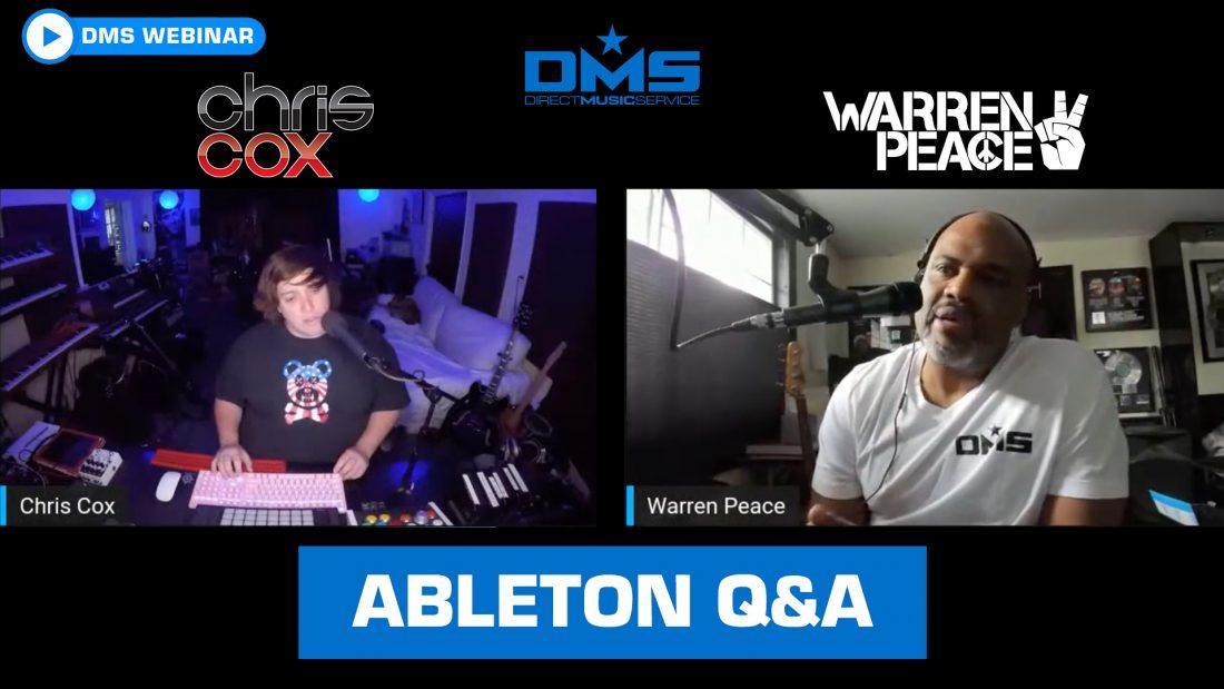 DMS Ableton Webinar with Chris Cox