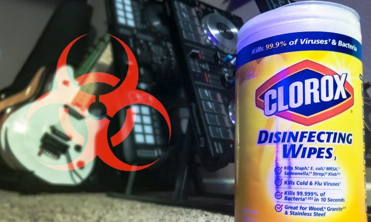 How I CLEAN & DISINFECT my MUSIC GEAR after a show | PRI YON JONI