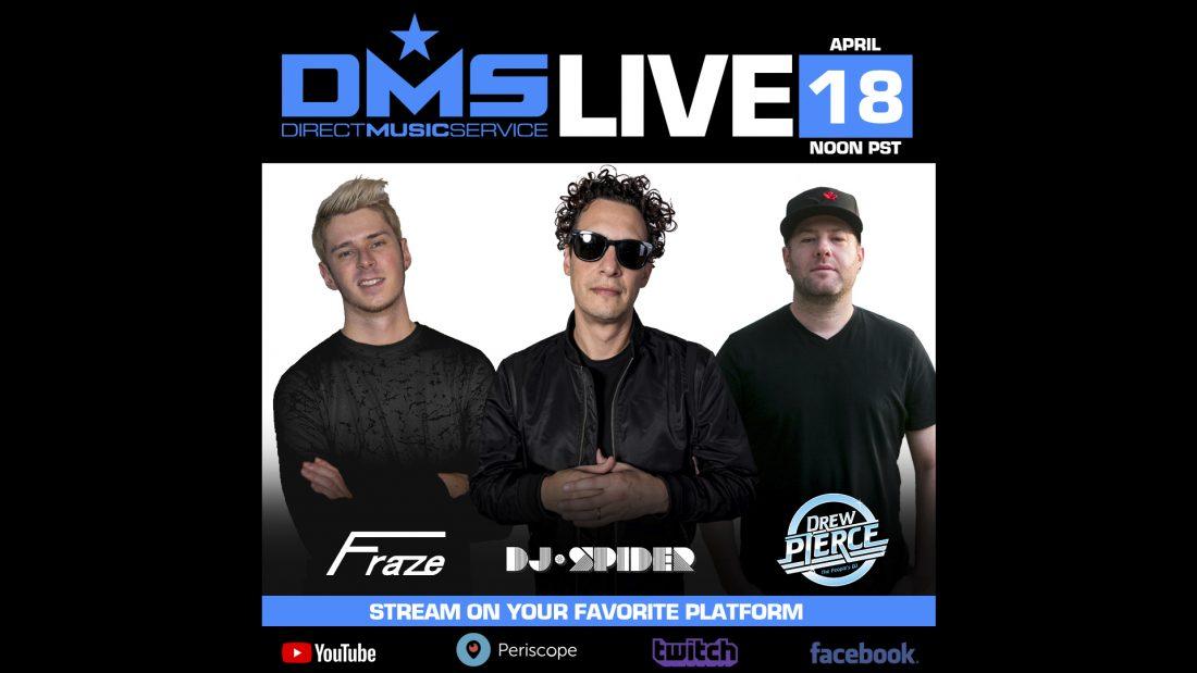 DMS LIVE STREAM FEATURING FRAZE, DREW PIERCE, & DJ SPIDER