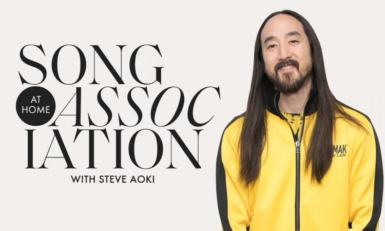 """Steve Aoki Sings The Weeknd & Talks """"Neon Future IV"""" in a #StayHome Game of Song Association 