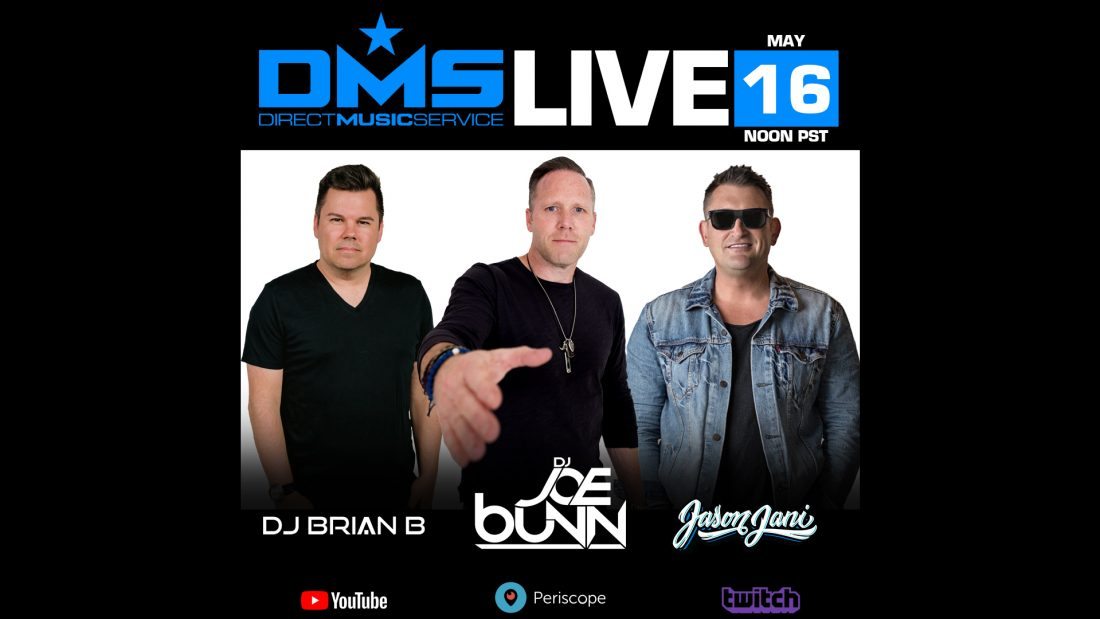 DMS LIVE STREAM FT. DJ  BRIAN B, JOE  BUNN & JASON JANI