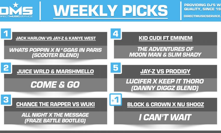 DMS TOP 5 PICKS OF THE WEEK – 7/13/2020