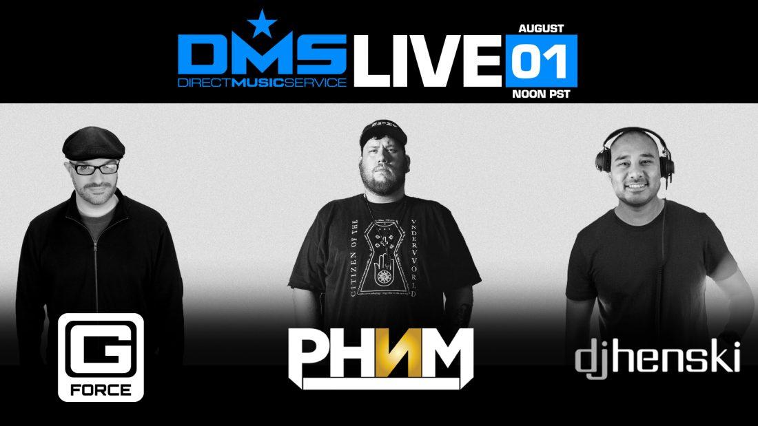 DMS LIVE STREAM FT. G FORCE, DJ HENSKI, & PHNM