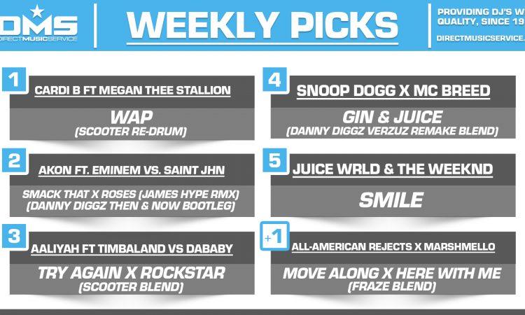 DMS TOP 5 PICKS OF THE WEEK – 8/10/2020
