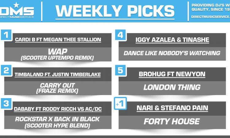 DMS TOP 5 PICKS OF THE WEEK – 8/24/2020
