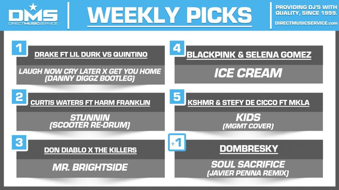 DMS TOP 5 PICKS OF THE WEEK – 8/31/2020
