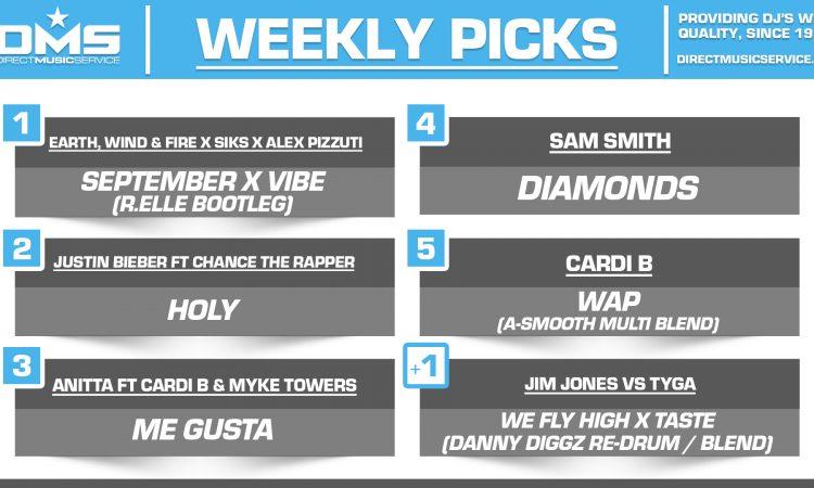 DMS TOP 5 PICKS OF THE WEEK – 9/21/2020
