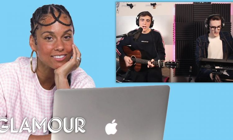 Alicia Keys Watches Fan Covers on YouTube | Glamour