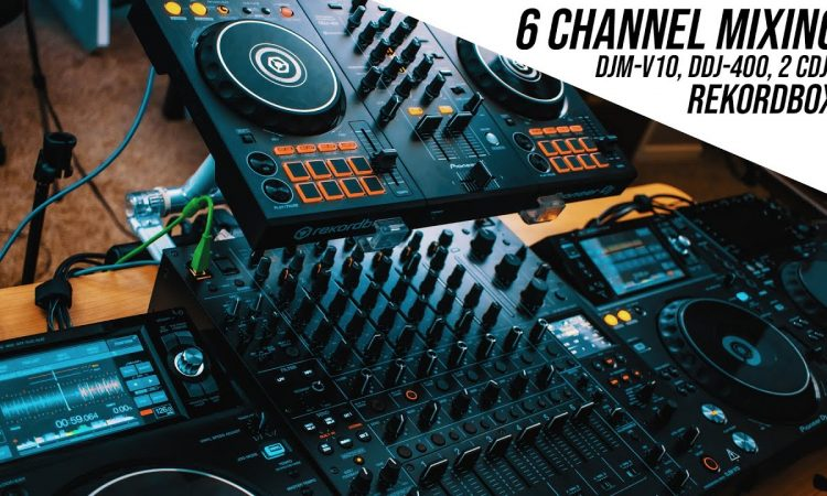 DJM-V10 with DDJ-400 | Can we mix with all 6 channels? Let's find out.