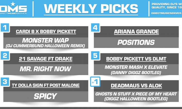 DMS TOP 5 PICKS OF THE WEEK – 10/26/2020