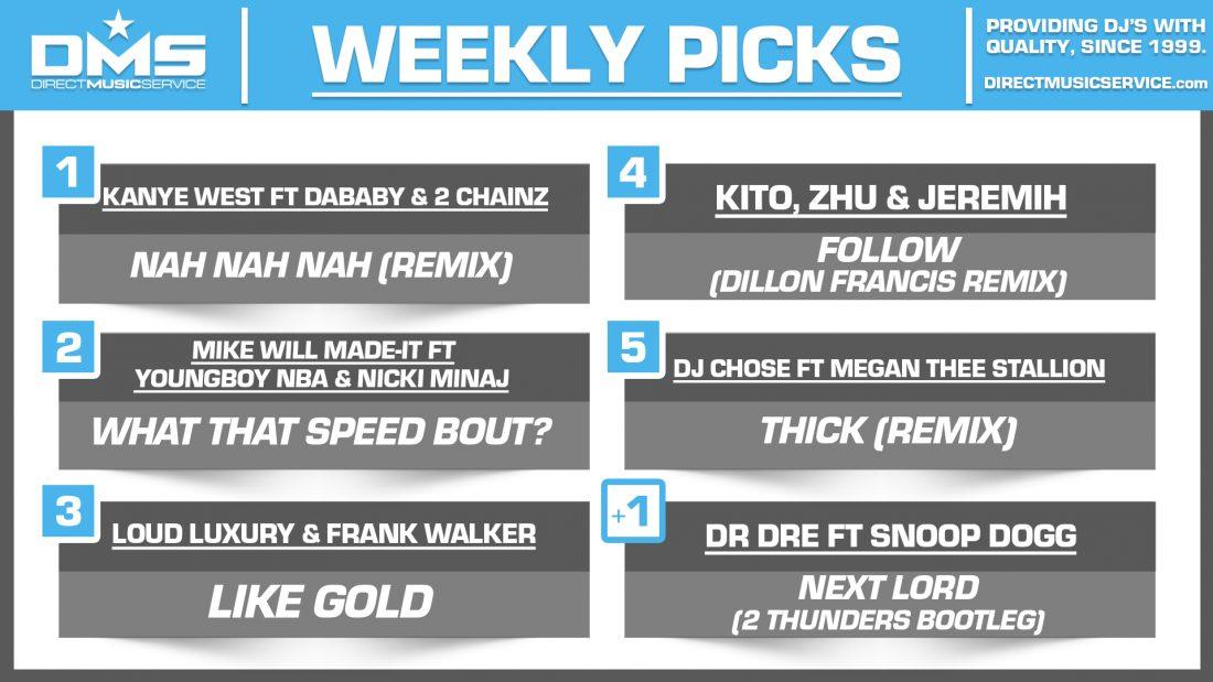 DMS TOP 5 PICKS OF THE WEEK – 11/9/2020
