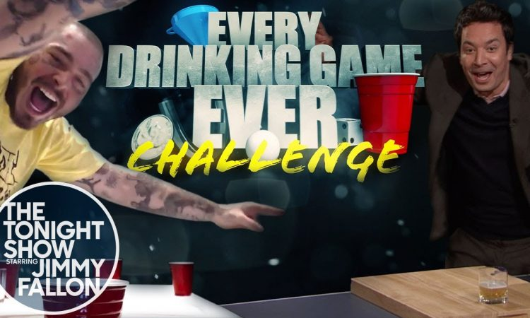 Jimmy Fallon and Post Malone Play Every Drinking Game Ever