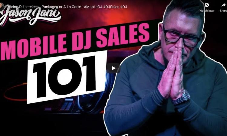 Pricing DJ services.. Packages or A La Carte  | JASON JANI