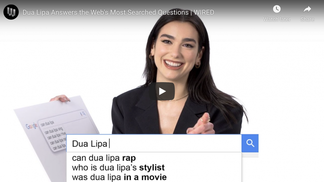Dua Lipa Answers the Web's Most Searched Questions | WIRED