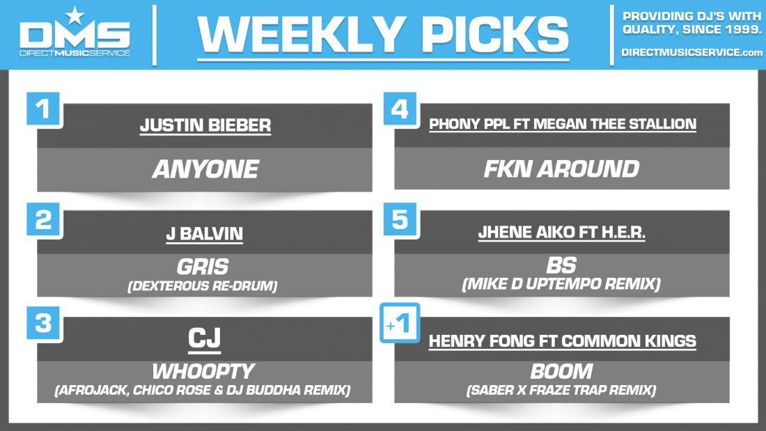DMS TOP 5 PICKS OF THE WEEK 1-4-2021