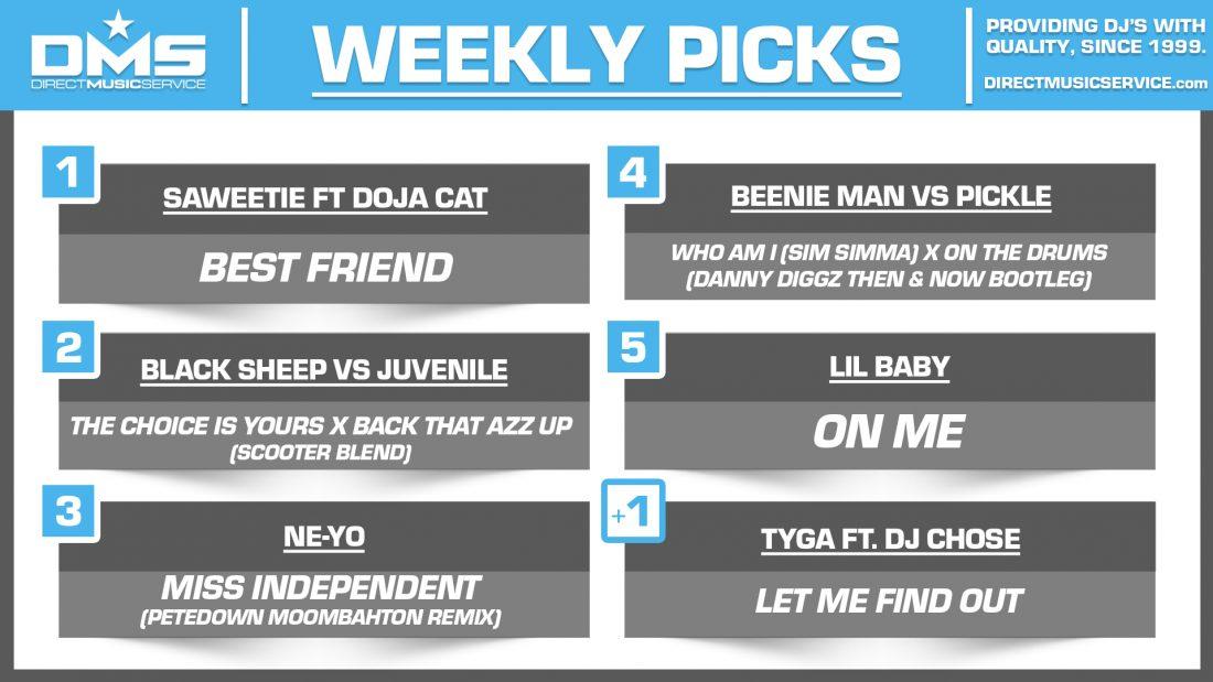 DMS TOP 5 PICKS OF THE WEEK 1-11-2021