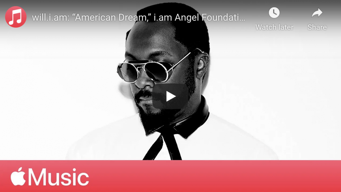 """will.i.am: """"American Dream,"""" i.am Angel Foundation, and Education 