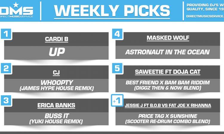 DMS TOP 5 PICKS OF THE WEEK 2-8-2021