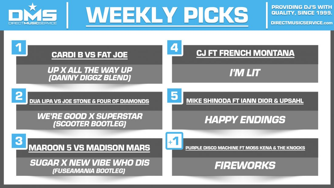 DMS TOP 5 PICKS OF THE WEEK 2-22-2021