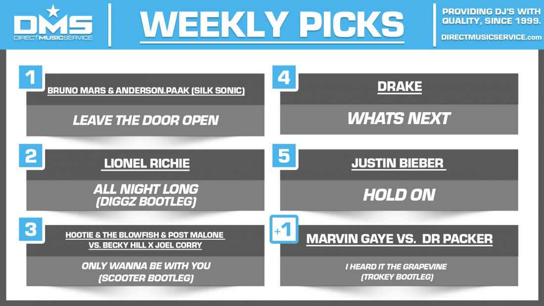 DMS TOP 5 PICKS OF THE WEEK 3-8-2021