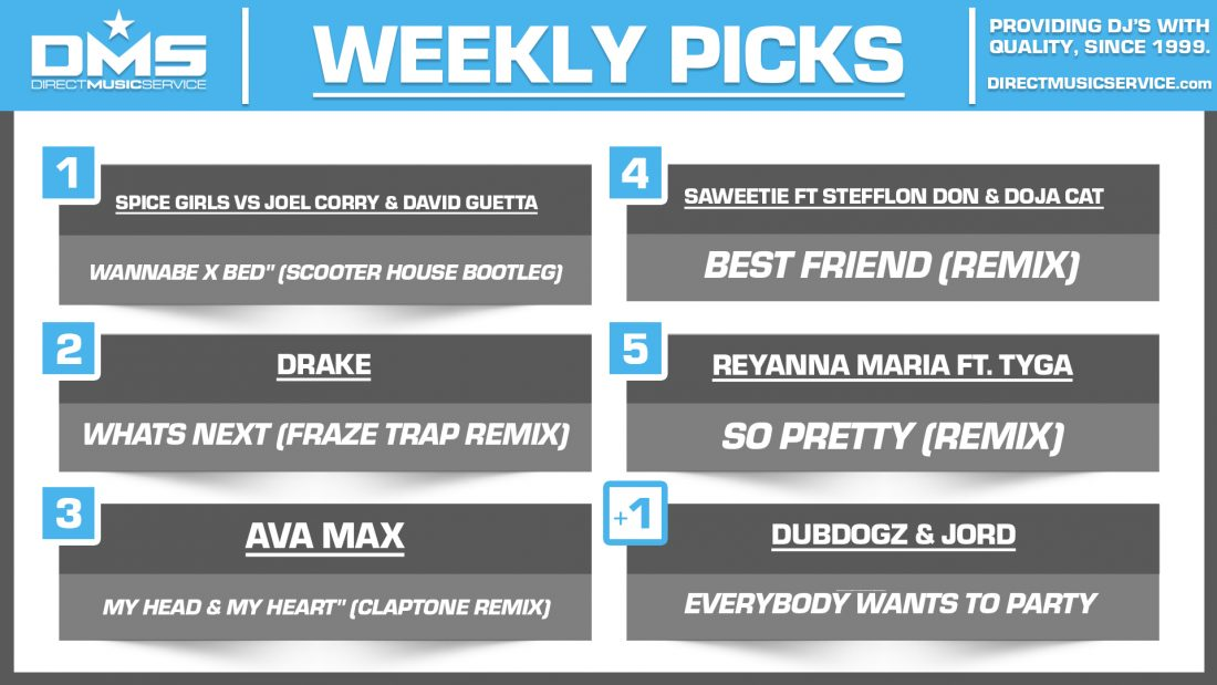 DMS TOP 5 PICKS OF THE WEEK 3-15-2021